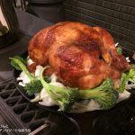 薪ストーブをオーブンに。コストコのロティサリーチキンを焼こう