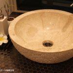 【WEB内覧会】大理石洗面ボウルのある造作手洗い(入居後)