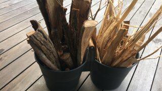 寒いので朝から運動♪やっと薪を運び入れました