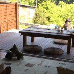 使わない無垢テーブルを再利用♩アウトドアリビング計画リスタート