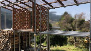 【薪活2018】梅の木で4車目&薪棚を整理中・・