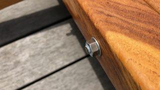 ネジさがし迷宮と外に常設する対策<自立式木製ハンモックスタンド>