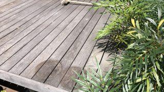 お盆だというのに大掃除。これからウッドデッキと無垢床のメンテを・・
