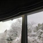 久しぶりの雪景色と、寝室からの借景を楽しむ部屋づくり。